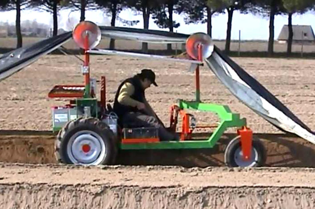 macchina raccolta asparagi bianchi